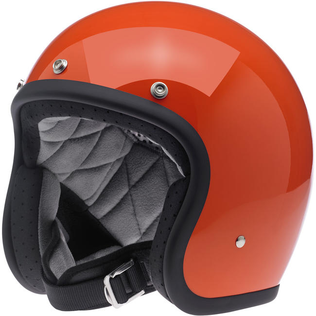 Biltwell Bonanza Helmet Open Face Gloss Hazard Orange